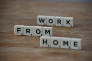 Work from Home Scrabble Tiles